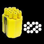 Jogo de 6 porta-tubos com capacidade total para 84 tubos 13mm x 100mm