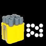 Jogo de 6 porta-tubos com capacidade total para 60 tubos 13mm x 100mm