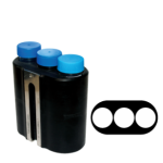 Jogo de 6 porta-tubos com capacidade total para 18 tubos 50ml