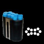 Jogo de 6 porta-tubos com capacidade total para 60 tubos 17mm x 120mm – 15ml urina com tampa