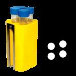 Jogo de 4 porta-tubos com capacidade total para 16 tubos 17mm x 120mm – 15ml com tampa