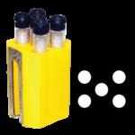 Jogo de 4 porta-tubos com capacidade total para 20 tubos 13mm x 75mm ou 13mm x 100mm ou 16mm x 100mm