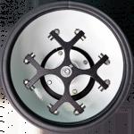 Rotor em liga de aço especial, com sistema horizontal para 4 porta-tubos.