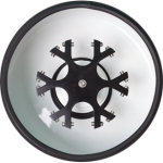 Rotor em liga de aço especial, com sistema horizontal para 6 porta-tubos.