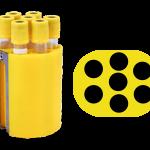 Jogo de 4 porta-tubos com capacidade total para 28 tubos 13mm x 75mm ou 13mm x 100mm ou 16mm x 100mm